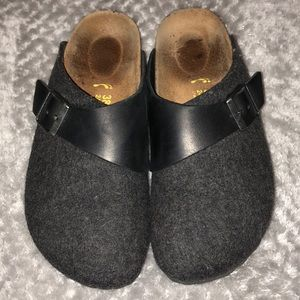 Birkenstock wool and leather clogs EUC 38 Narrow